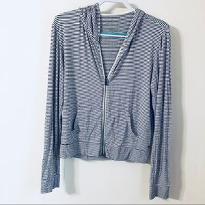 American Eagle Striped Zip Up Jacket